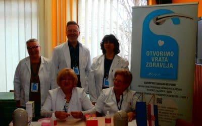 OTVORIMO VRATA ZDRAVLJA Akcija mjerenja vrijednosti tlaka i šećera u održana u Virovitici